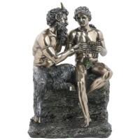 Бронзовая фигура Сатир Марсия и Аполлон
