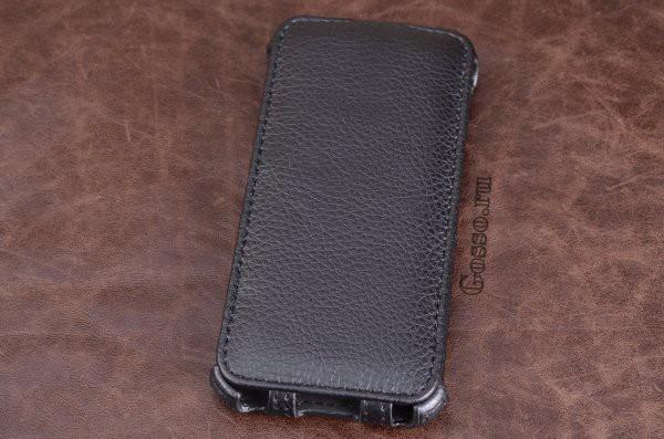 Черный чехол для iPhone 5 / 5S «Ночной Бруклин» (личи)