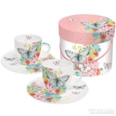 Набор чашек для кофе в подарочной коробке Louise butterfly