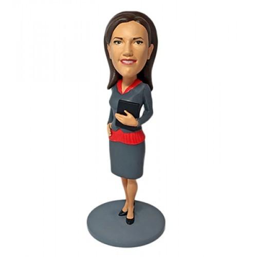 3D шарж Бизнес-леди 4