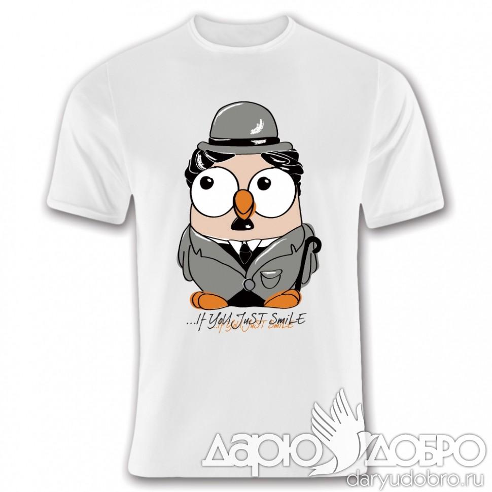 Мужская футболка с совой Чарли от Goofi