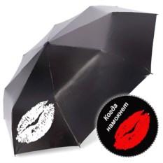 Женский зонт-хамелеон Губы с рисунком красного цвета