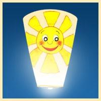 Небесный фонарик Белый конус (Солнце)