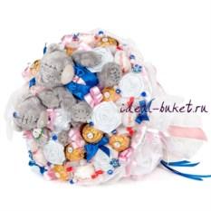 букет с конфетами Raffaello и Ferrero Конфетная свадьба