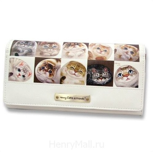 Портмоне-конверт «Кошки в клетках»