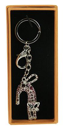 Брелок для сумочки и ключей Кошечка, розовая