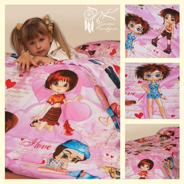 Комплект детского постельного белья (на резинке) Кокетка