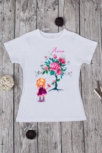 Женская футболка с вашим текстом Роза