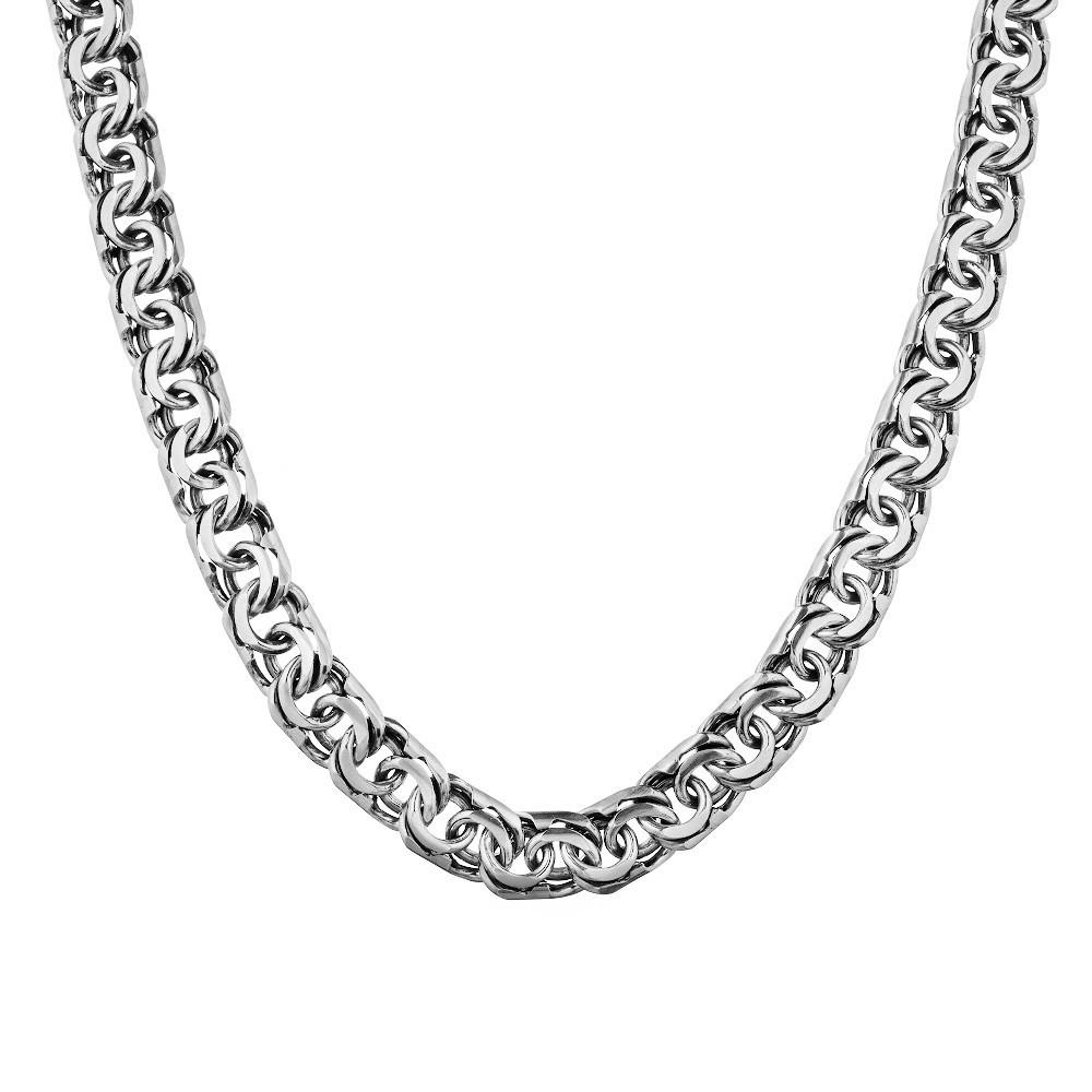 Мужская серебряная цепь, плетение Бисмарк