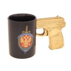 Кружка с ручкой-пистолет ФСБ