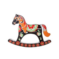 Лошадка-качалка с ручной художественной росписью Хохлома