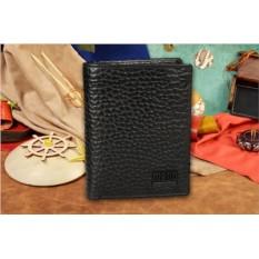 Чёрное кожаное мужское портмоне из коллекции Mano
