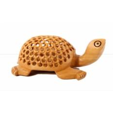 Прорезная деревянная статуэтка Черепаха