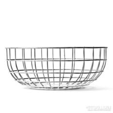 Ваза Norm wire bowl из хрома