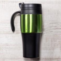 Чёрно-зеленая термокружка Либерика