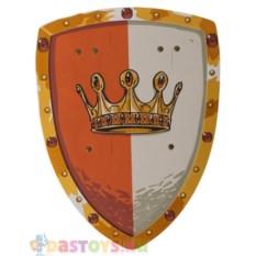 Красно-белый щит с золотой короной