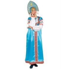 Русский народный костюм: голубой комплект Василиса