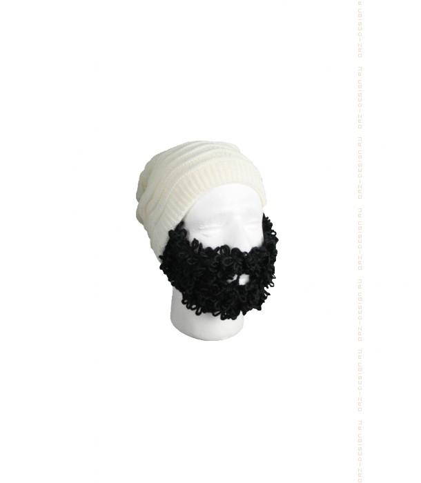 Белая шапка с кудрявой бородой