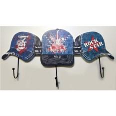 Декоративная вешалка Три бейсболки