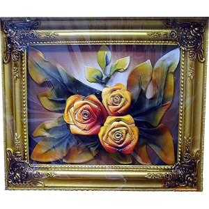 Картина из кожи «Цветные розы»