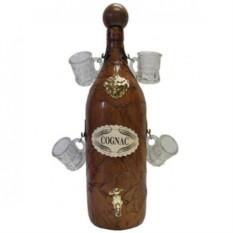 Бутыль для коньяка Элит с 4 рюмками
