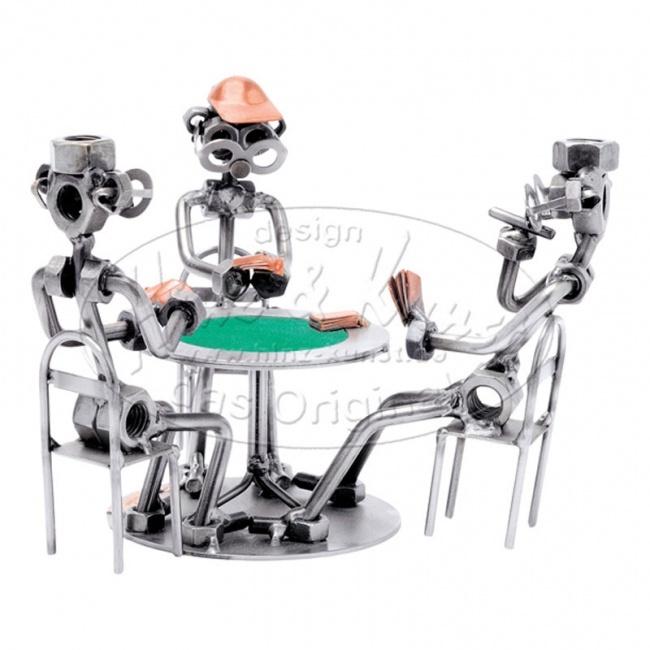Статуэтка из металла Игроки в покер, HINZ&KUNST