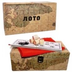 Русское лото в подарочной шкатулке Вокруг света