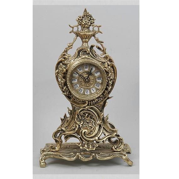 Часы бронзовые каминные с цветами