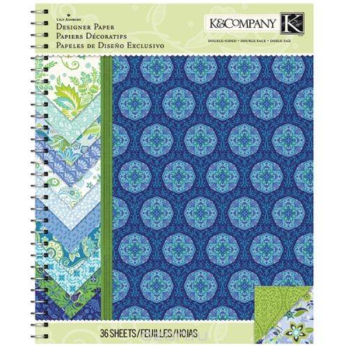 Набор бумаги для скрапбукинга K&Company Сад Индиго, 36 листов