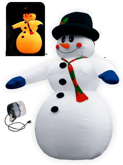 Снеговик в шляпе (с подсветкой)