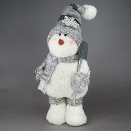 Игрушка Снеговик белый в одежде