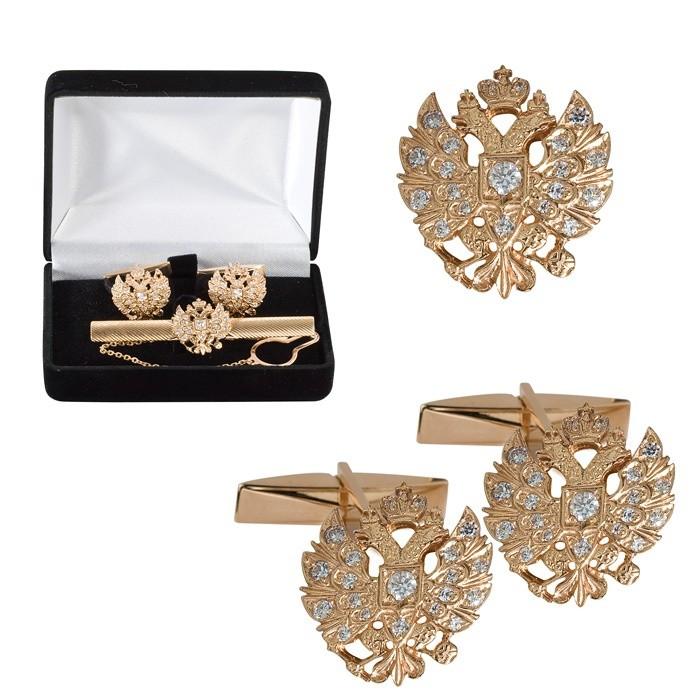 Золотой ювелирный набор для мужчины Герб