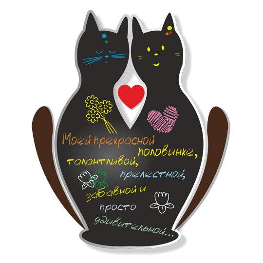 Магнитная доска Cats in Love (Fasten Fix)