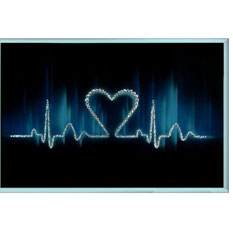 Картина с кристаллами Swarovski «Ритм сердца»
