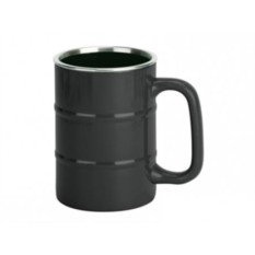 Черная кружка «Баррель» на 400 мл