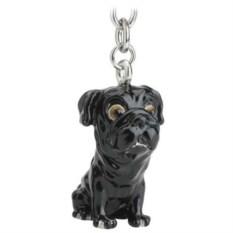 Брелок для ключе Pug Black