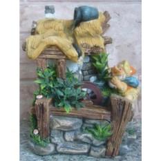 Фонтан с помпой Лесной гномик у домика