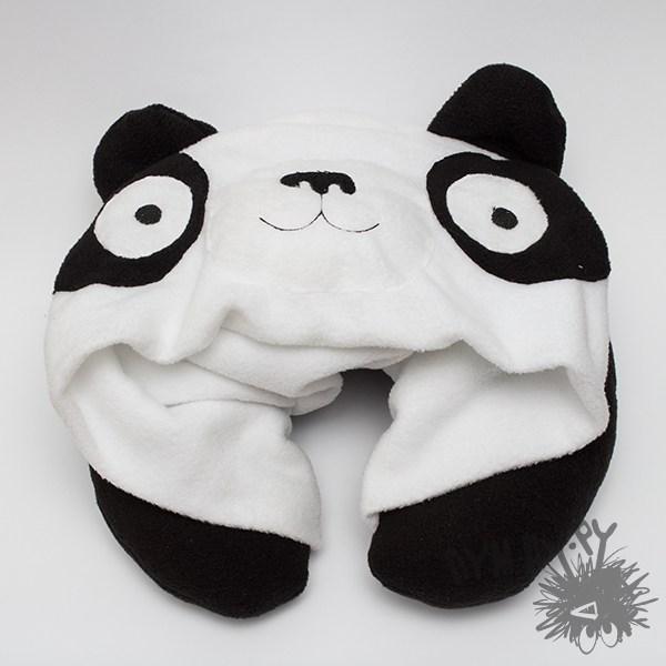 Подголовник с капюшоном Панда