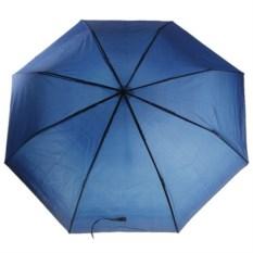Складной механический зонт (цвет: темно-синий)