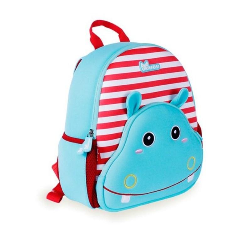 Детский рюкзак Nohoo «Бегемотик» в полосочку