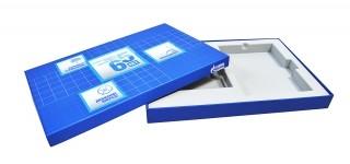 Подарочная коробка с флокированным ложементом для сувениров
