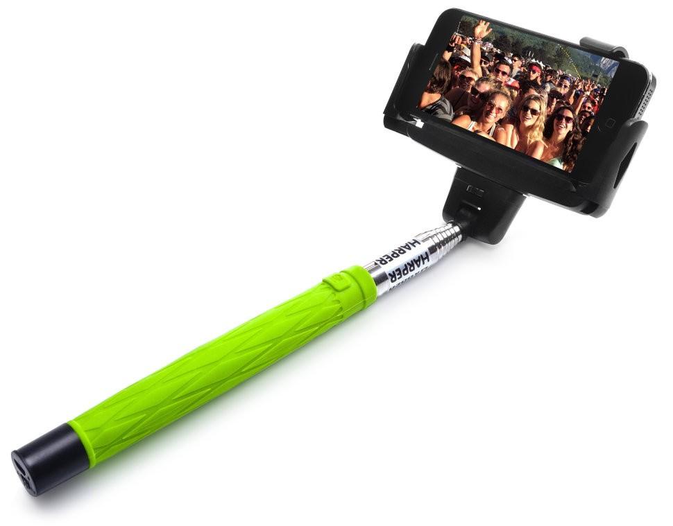 Монопод для селфи HARPER с кнопкой Bluetooth и зеркалом