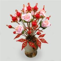 Цветы из коралла Красное солнышко