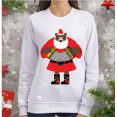 Женский свитшот Медведь-Дед Мороз