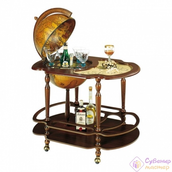 Глобус-бар со столиком, диаметр 40 см