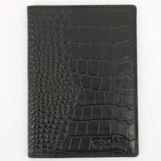 Черная с тиснением обложка для паспорта с визитками S.Quire