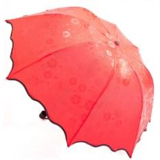 Красный зонт с проявляющимся рисунком
