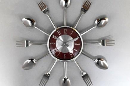 Часы настенные Ложки вилки