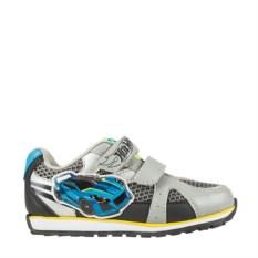 Серо-голубые кроссовки на липучке Hot Wheels