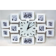 Настенные часы из фоторамок своими руками 567